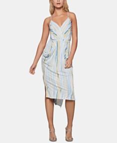 0592fb2c4c0 BCBGeneration Draped High-Low Midi Dress