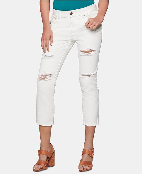 BCBGeneration Cotton Ripped Boyfriend Jeans