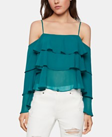 BCBGeneration Triple-Tiered Flounce Top