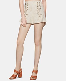 BCBGeneration Lace-Up Corset Shorts