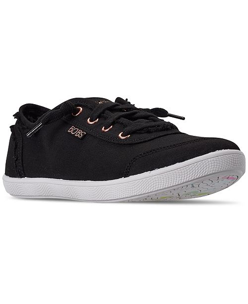 a51b266bcb58d Skechers Women's BOBS-B Cute Lace Casual Sneakers from Finish Line ...