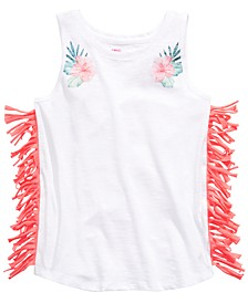 Big Girls Floral-Print Fringed Tank Top, Created for Macy's