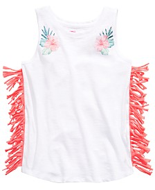 Epic Threads Big Girls Floral-Print Fringed Tank Top, Created for Macy's