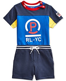 Baby Boys Jersey T-Shirt & Shorts Set
