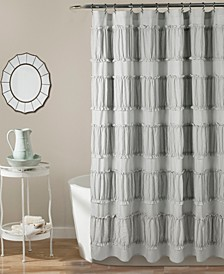 "Nova Ruffle 72"" x 72"" Shower Curtain"