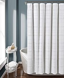 "Stripe Clip Jacquard 72"" x 72"" Shower Curtain"