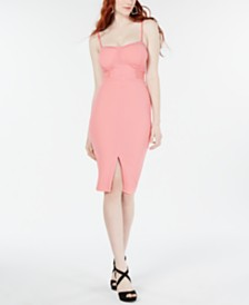 Material Girl Juniors' Illusion Bodycon Dress, Created for Macy's