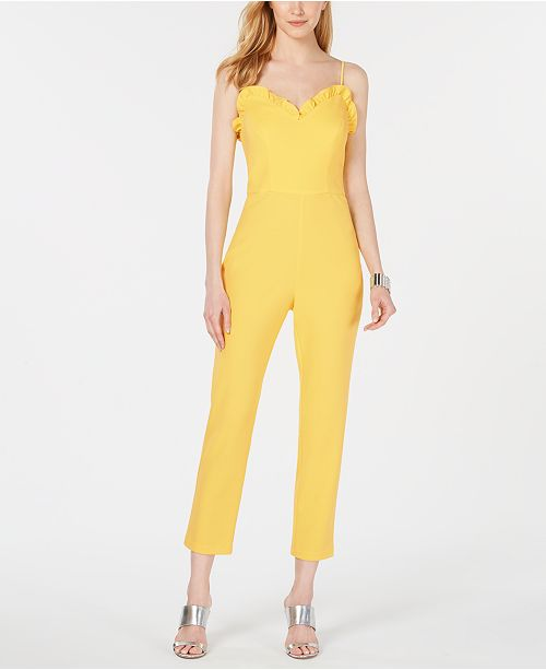 Adrianna Papell Scallop Ruffle Jumpsuit