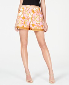 GUESS Shakira Printed Pull-On Shorts