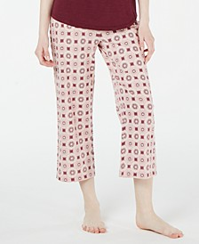 Floral-Print Cotton Knit Pajama Pants, Created for Macy's