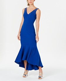 Calvin Klein Embellished High-Low Gown