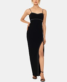 XSCAPE Studded Gown