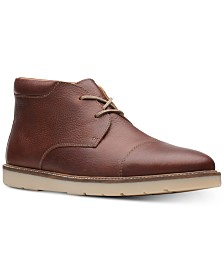 Clarks Men's Grandin Top Tan Tumbled Leather Casual Boots