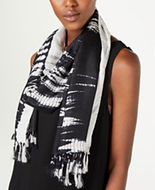 Eileen Fisher Silk Fringe-Trim Wrap Scarf