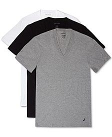 Men's 3-Pk. Cotton V-Neck Undershirts