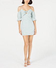 LeRumi Mia Cotton Gingham-Print Mini Dress