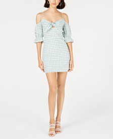 LeRumi Mia Cotton Gingham-Print Mini Dress