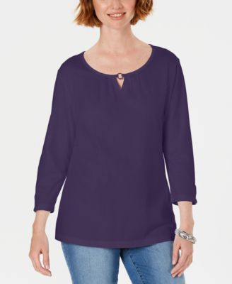 Three-Quarter Sleeve Top, Created for Macy's