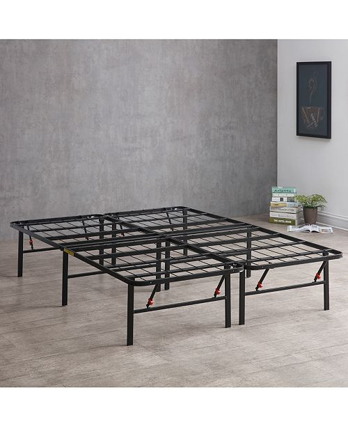 Sleep Trends Hercules 14-Inch Platform Metal Bed Frame, Assembly Required, Quick Ship, Created for Macy's