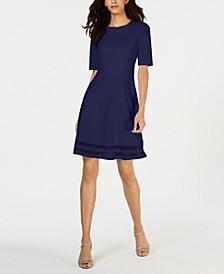 Elbow-Sleeve Illusion-Detail Dress