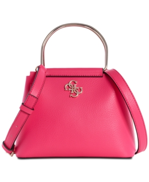 Guess Kim Mini Top-Handle Crossbody In Passion/Gold