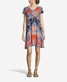 JohnPaulRichard Blue and Orange Printed Dress