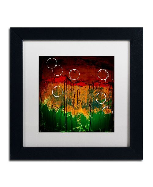 """Trademark Global Nicole Dietz 'The Ridges' Matted Framed Art - 11"""" x 11"""""""