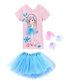 Interchangeable 3D Tutu Top and Matching Turquoise Tutu Skirt
