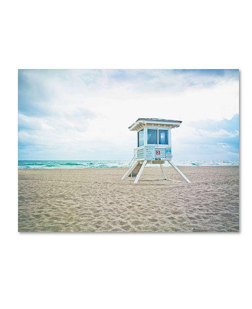 """Trademark Global Preston 'Florida Beach Chair 2' Canvas Art - 14"""" x 19"""""""
