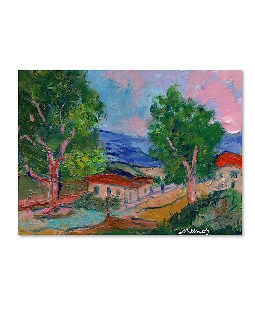 "Trademark Global Manor Shadian 'Tree Valley' Canvas Art - 14"" x 19"""