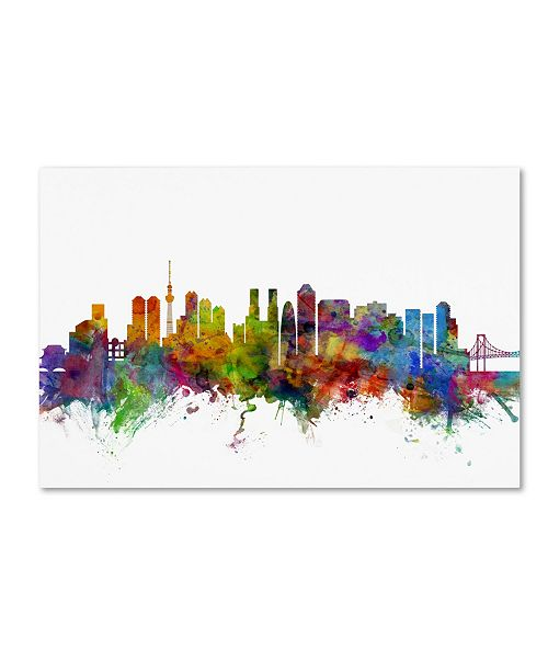 "Trademark Global Michael Tompsett 'Tokyo Japan Skyline' Canvas Art - 12"" x 19"""