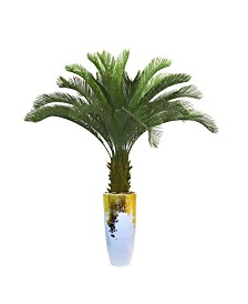 "Laura Ashley 69.5"" Palm Tree Artificial Faux decor in Resin Planter"