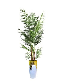 "Laura Ashley 97.5"" Palm Tree Artificial Faux decor in Resin Planter"