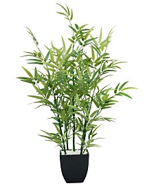 "Laura Ashley 29"" Tabletop Mini Faux Bamboo Plant in Planter"