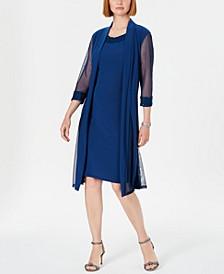 Embellished Dress & Duster Jacket