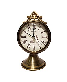 Golden Bell Antique Roman Numeral Silent Non-Ticking Desk Alarm Clock