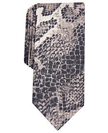 INC Men's Skinny Burmese Python Tie, Created for Macy's