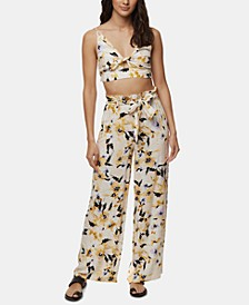 Juniors' Lucella Floral-Print Crop Top