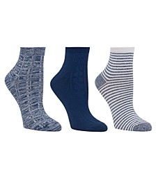 Women's 3pk Mid-Weight Ankle Cut Socks, Online Only