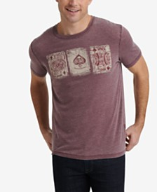 Lucky Brand Men's Playing Cards Graphic T-Shirt