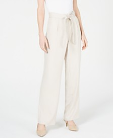 Alfani High-Waist Wide-Leg Pants, Created for Macy's