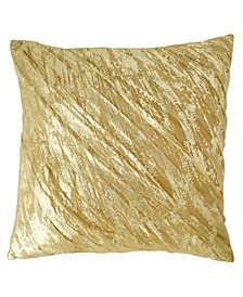 "Home Gilded 20"" Square Decorative Pillow"