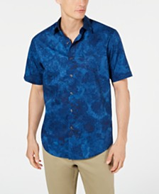Tasso Elba Men's Pennello Watercolor Stretch Shirt, Created for Macy's