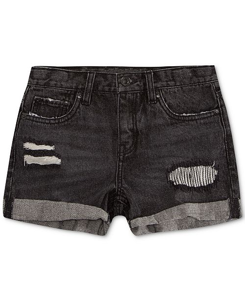 Levi's Cotton Colorblocked Girlfriend Shorty Shorts, Big Girls