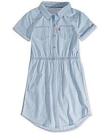 Levi's® Big Girls Cotton Denim Shirtdress