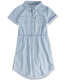 Levi's® Big Girls Cotton Denim Shirtdress