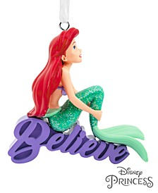 Disney The Little Mermaid Ariel Believe Christmas Ornament
