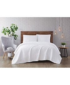 Brooklyn Loom Washed Rayon Basketweave 2 Piece Twin Extra Large Quilt Set