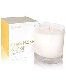 Champagne & Rose Hand-Poured Soy Candle, 8.8-oz.