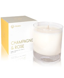 Musee Champagne & Rose Hand-Poured Soy Candle, 8.8-oz.
